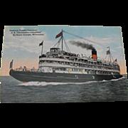 Postcard: Great Lakes Steamer: Goodrich Transit Company