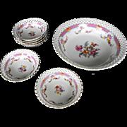 Schumann pierced Berry bowl set (6)