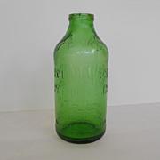 Green glass Rolling Rock Beer Bottle