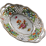 Early C. Schumann reticulated oval dish     Circa: 1900