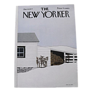 The New Yorker Magazine Cover: January 10, 1977