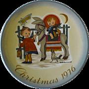 Schmid Collector Plate, Christmas 1976