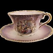 Antique Royal Bavarian portrait cup and saucer        circa 1890