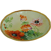 Ginori hand painted artist signed 8 .75 inch bowl