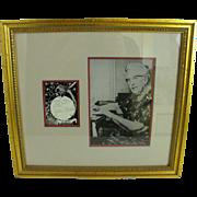 Agatha Christie signature and photo framed