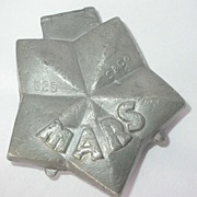 SOLD Antique Pewter MARS Ice Cream Mold