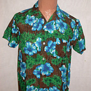 Vintage Authentic PALMS Authentic HAWAIIAN Rayon Shirt MED - Japan