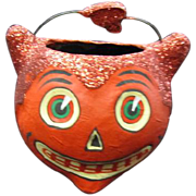 Papier Mache Devil Candy Container Collectible Dept. 56