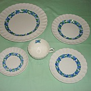 Vintage Porcelain Copeland Spode 5 Piece Set Valencia Pattern