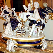 Magnificent Royal Dux Czechoslovakia Porcelain Centerpiece Breakfast-Rococo