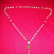 Vintage Catholic Mother Of  Pear Rosary With Crucifix And St. Jude's Medal