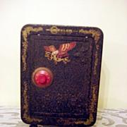 Vintage Mosler Metal Vault Combination Bank
