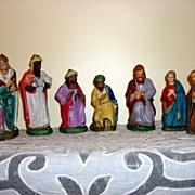 Vintage German Composite Nativity Figurines