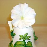 White Cascade Petunia Bell By Jeanne Holgate