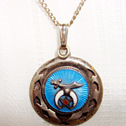 Foreign Sterling/Enamel Medal