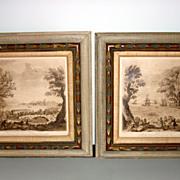 Original Old Engraving Pastorale By Earlom After Claude Lorraine
