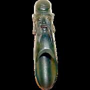Antique Chinese Jade Tea Spoon Carved Longevity