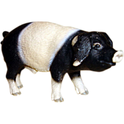 Vintage Rubber Farm Pig Figurine - Germany