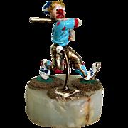 "Vintage Ron Lee Clown Sculpture ""The Baseball Player"""