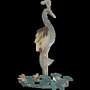 Vintage 1978 Curtis Jere Metal Sculpture Paradise Bird