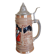 Vintage Hand Painted German Beer Stein