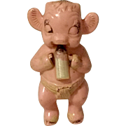 1947 Vintage Borden Toy Baby Rattle Irwin