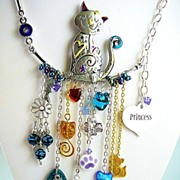 SOLD Miss Priss ~ Out of My Mind Charm Necklace