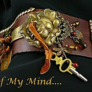 SOLD Pure Joy ~ Out of My Mind Leather Cuff