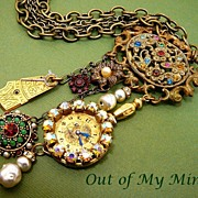 SOLD Vintage Charm ~ Out of My Mind Necklace