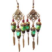 SOLD Picasso in Copper ~ Out of My Mind Earrings - Red Tag Sale Item