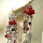 SOLD I Am ~ Out of My Mind Asymmetrical Earrings