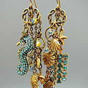 SOLD Seahorse Sensation ~ Out of My Mind Asymmetrical Earrings