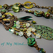 SOLD Industrial Elegance ~ Out of My Mind Assemblage Necklace
