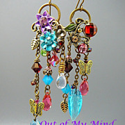 SOLD Summer Explosion - Out of My Mind Asymmetrical Earrings
