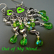 Peridot Heart - Out of My Mind Earrings