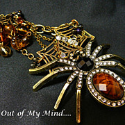 SOLD Along Came a Spider - Out of My Mind Necklace