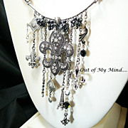 SOLD Fleur Flair - Out of My Mind Charm Necklace