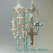 SOLD Glorious - Out of My Mind Asymmetrical Earrings