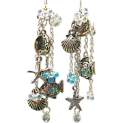 SOLD Sea-Sational - Out of My Mind Asymmetrical Earrings