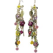 SOLD Summer Rose - Out of My Mind Earrings
