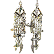 SOLD A Wing and a Prayer - Out of My Mind Asymmetrical Earrings