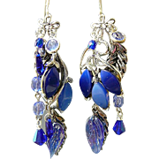 SOLD The Blues Have It - Out of My Mind Asymmetrical Earrings