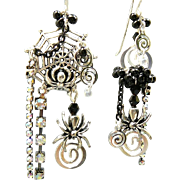 SOLD Spidey Splendor - Out of My Mind Asymmetrical Earrings