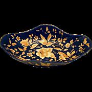 Majolica  Bowl, Cobalt Blue, Rudolf Ditmar, Antique 19th C Austrian
