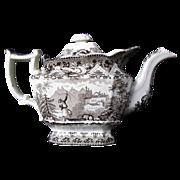 Davenport Teapot, Turkish Archer Pattern, AS-IS, Antique 19th C