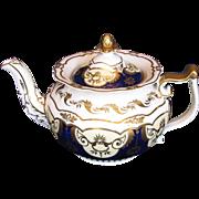 Rare John Yates Porcelain Teapot, Antique 19th C English