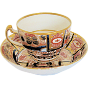 "Chamberlain's Worcester Cup & Saucer, ""Nelson Pattern"",  English Imari, c. 1802"