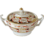 John Rose Coalport Sucrier (Sugar),  Antique English Porcelain, c 1810