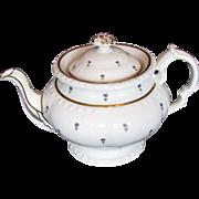 Minton Teapot, English Bone China, Antique c 1825, Pretty & Functional