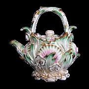 SALE Coalbrookdale Miniature Teapot, Signed, John Rose Coalport, Antique 19th C English